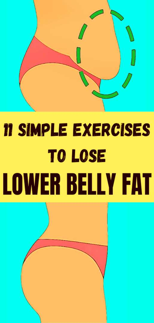 11 Best exercises to lose hanging lower belly fat at home